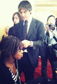 Backstage with Hair Stylist Julien Farel at Wes Gordon Fall 2011