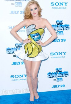 Katy Perry Dresses Up as Smurfette at 'The Smurfs' Premiere