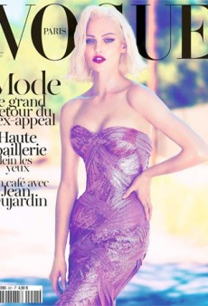 Sasha Pivovarova Covers Paris Vogue October