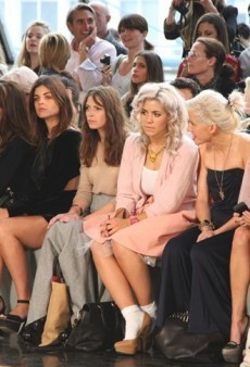 Front Row at London Fashion Week, Spring 2012