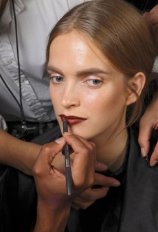 Backstage Beauty with Justin St. Clair: Donna Karan Spring 2012