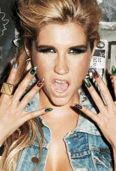 Ke$ha's Dagger Nail Art