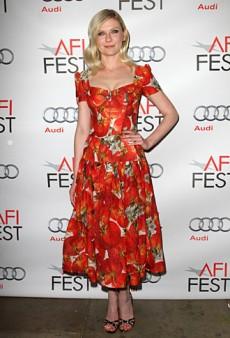 Kirsten Dunst Dressed in Dolce & Gabbana Tomato Print (Forum Buzz)
