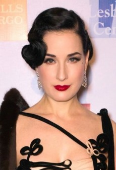 Dita Von Teese: Look of the Day – Impressive Corseted Velvet Gown