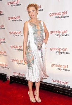 Blake Lively's Barely-There Marchesa for Gossip Girl's 100 Episode Party