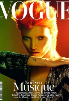 Kate Moss Plays Bowie on the Cover of December's Vogue Paris