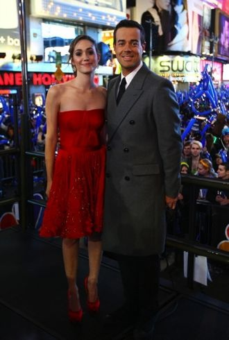 Emmy Rossum New Year Eve 2012 Carson Daly New York City cropped