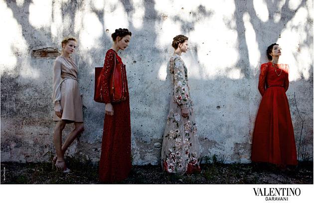 Valentino Spring 2012 by Deborah Turbeville