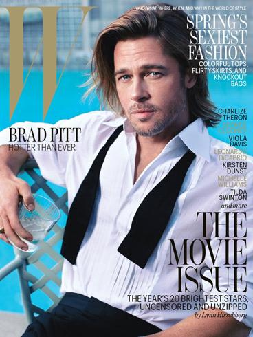 Brad Pitt - W magazine February 2012 cover