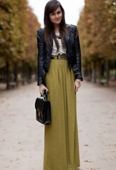 Wear Your Maxi Skirt in the Cold