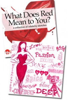 What Does Red Mean to You? A Celebrity Sketch Book