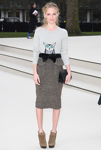 Kate Bosworth Burberry fashion show outfit