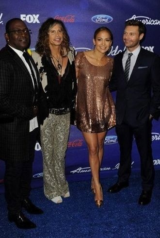 Jennifer Lopez Meet Fox 2012 American Idols Party Los Angeles cropped