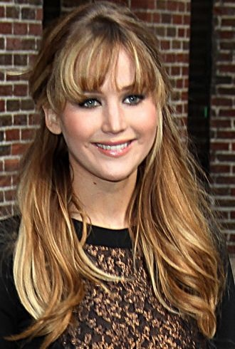 Jennifer Lawrence The Late Show with David Letterman New York City cropped