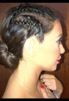 Kim Kardashian's Corn Rows and Other Celeb Twitpics of the Week