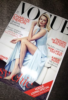 Charlize Theron Covers Vogue UK in Versace (Forum Buzz)