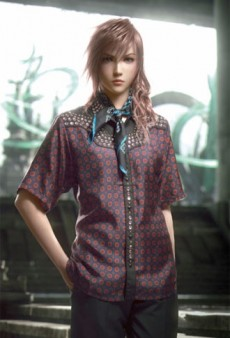 Prada Dresses Final Fantasy Characters for Arena Homme+