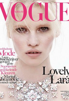Lara Stone Covers Vogue Netherlands' Second Issue (Forum Buzz)