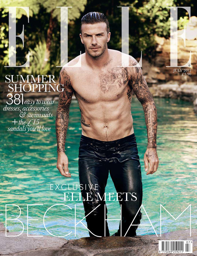 Elle UK July 2012 - David Beckham by Doug Inglish
