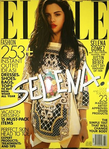 Selena Gomez - Elle July 2012