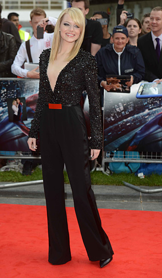 Emma Stone in Elie Saab - London Premiere of Amazing Spiderman