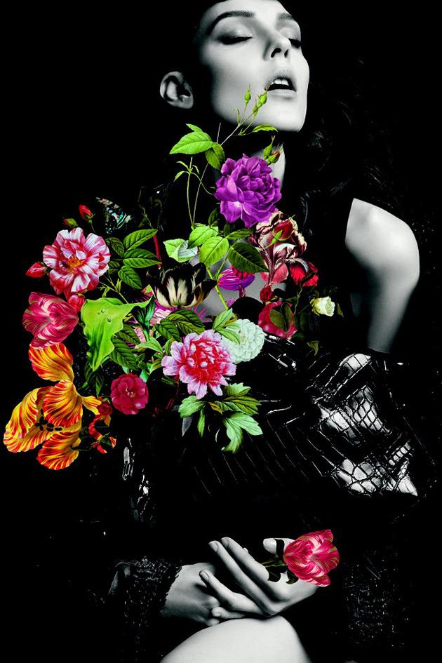 Nina Ricci La Rue bag - Fall 2012 ad campaign by Inez & Vinoodh, Illustration by Jo Ratcliffe