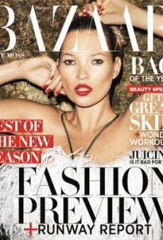 Harper's Bazaar Australia and Ukraine Cut Corners on Their Kate Moss Covers