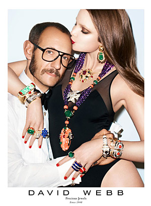David Webb Fall 2012 - Terry Richardson and Eniko Mihalik