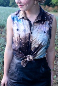 DIY: How to Make a Christopher Kane-Inspired Galaxy Shirt