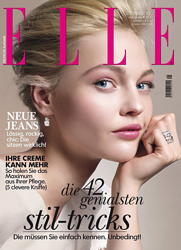 Elle Germany Sept 2012 - Sasha Pivovarova
