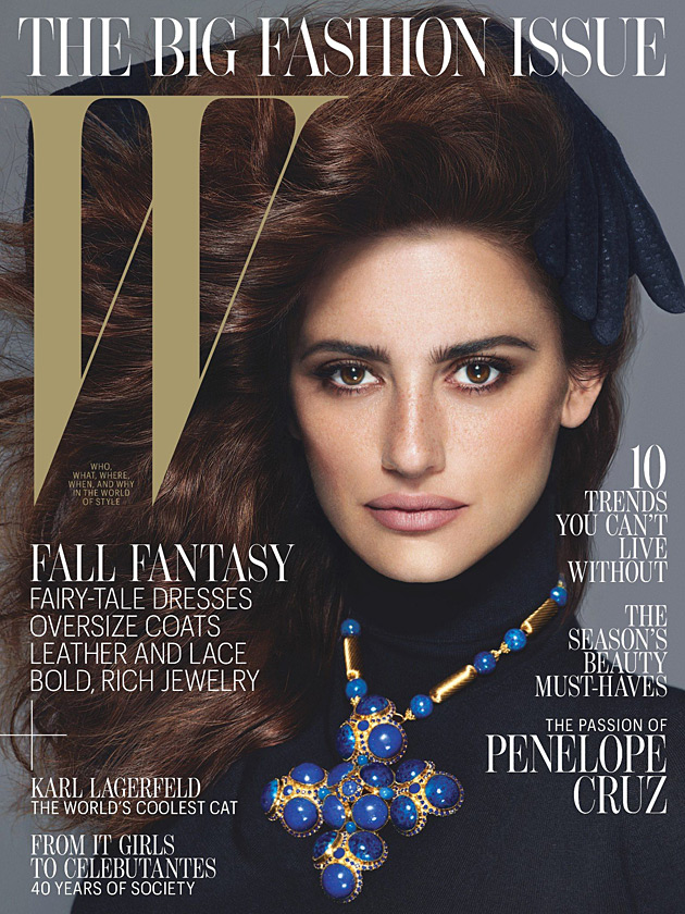 W September 2012 - Penelope Cruz by Mert & Marcus
