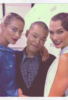 Jason Wu in a Model Sandwich and Other Celeb Twitpics from #NYFW