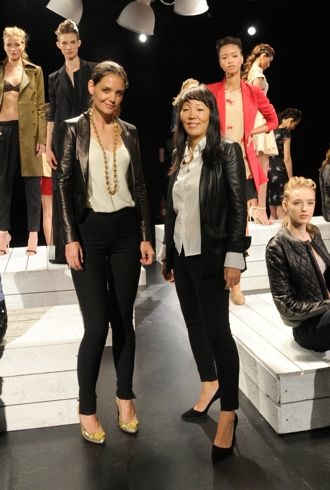 Katie Holmes Holmes Yang Spring 2013 Mercedes-Benz Fashion Week Sept 2012 cropped