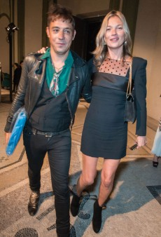 Kate Moss Wore a Dress by Hedi Slimane to the Saint Laurent Paris Show; It Looked OK (Forum Buzz)