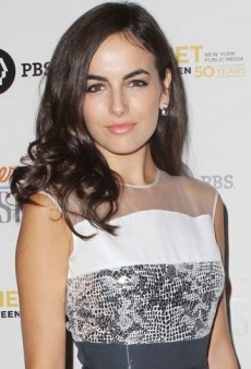 Look of the Day: Camilla Belle Conservatively Accessorizes Her Multifaceted Preen Dress