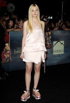 Even Elle Fanning Can't Pull Off Prada's Crazy Geisha Shoes (Forum Buzz)