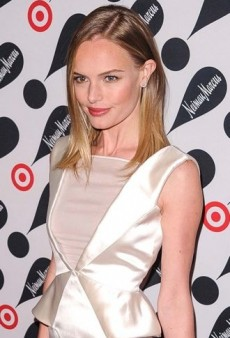 Look of the Day: Kate Bosworth's White Satin Emilio Pucci Peplum Dress