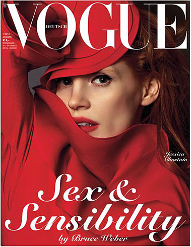 Vogue Germany January 2013 - Jessica Chastain photographed by Bruce Weber
