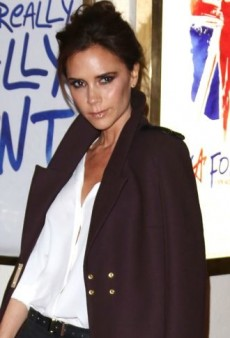 Look of the Day: Victoria Beckham Takes in a Show in Victoria Beckham and Isabel Marant