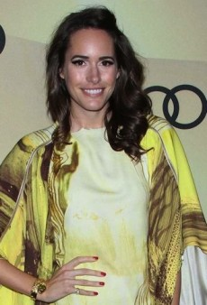 Look of the Day: Louise Roe's Yellow Printed Todd Lynn Spring 2013 Dress