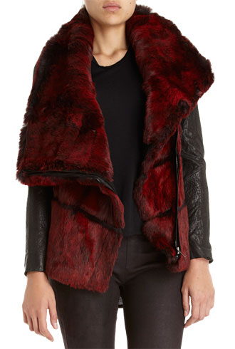 Helmut Lang leather and faux fur jacket - forum buys