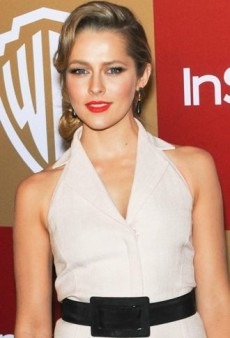 Look of the Day: Teresa Palmer's Oscar de la Renta Pale Pink Party Dress
