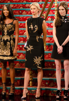 Get the Look: Supermodel Coaches of Oxygen's 'The Face' Wear Gold-Embellished LBDs