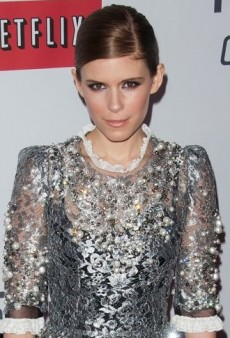 Look of the Day: Kate Mara's Metallic and Lace Dolce & Gabbana Dress
