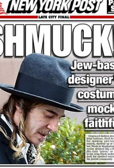 John Galliano's Hasidic-Inspired Outfit Not Really Winning Over His Detractors