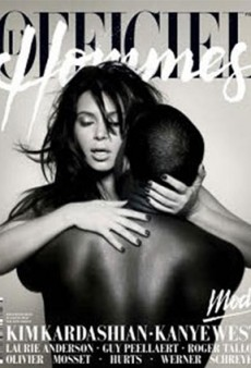 Would You Like to See Kim Kardashian and Kanye West Making Babies on the Cover of L'Officiel Hommes?