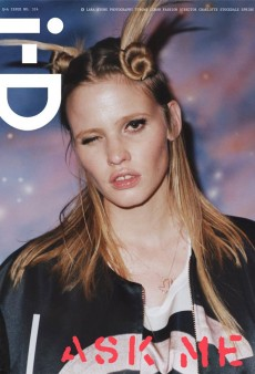 Lara Stone Gets Hair Antlers on the Cover of i-D