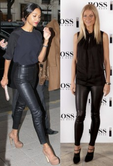 Seeing Double: Gwyneth Paltrow and Zoe Saldana are Ladies in Leather and More Matching Celebs