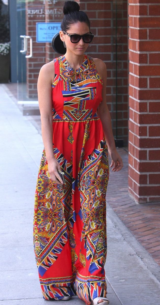 Olivia Munn visiting a nail salon with Julianne Hough Beverly Hills