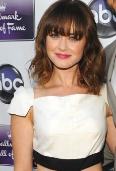 Look of the Day: Alexis Bledel's Pamella Roland Silk Shantung Cut-Out Dress